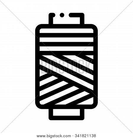 Thread Bobbin Icon Vector. Outline Thread Bobbin Sign. Isolated Contour Symbol Illustration