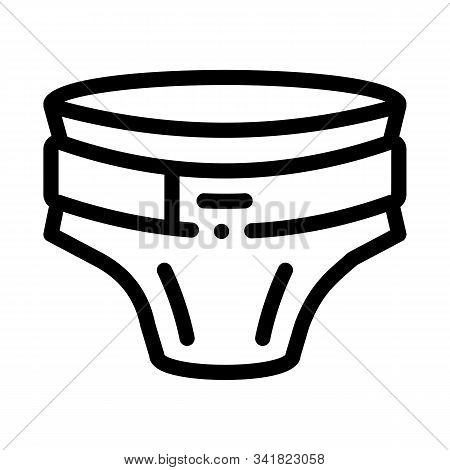 Diaper With Belt Icon Vector. Outline Diaper With Belt Sign. Isolated Contour Symbol Illustration