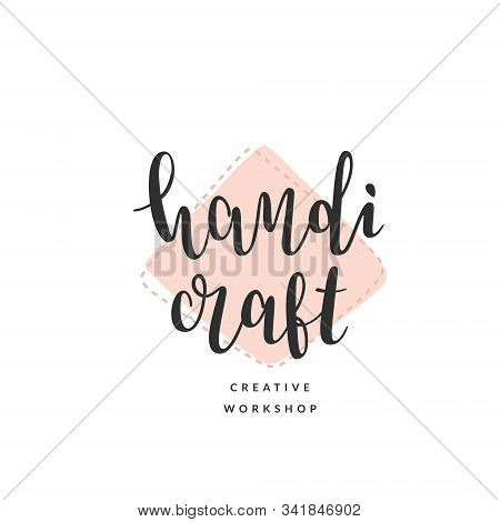 Craft Logo Template For Creative Master Class Or Workshop. Elegant Calligraphy, Modern And Simple Le