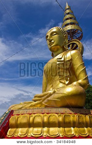 Side Of Biggest Image Of Buddha In Wat Phrataddoitae