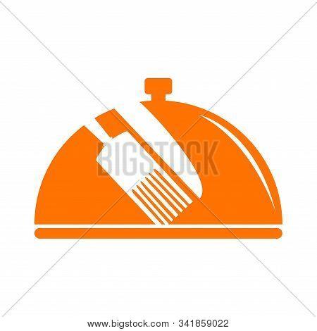 Restaurant Logo. Cober Plate With Knife Ans Fork - Vector Illustration