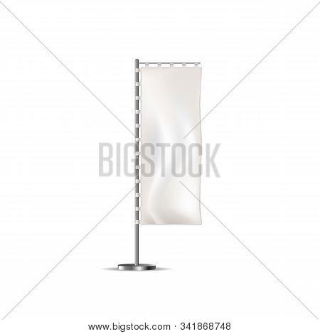 Vector Beach Flag Mockup. Blank Event Flag. Advertising Feather Flag. Blade Flag
