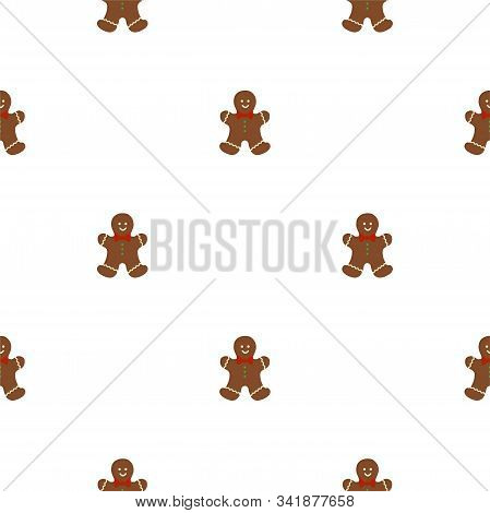 Big Set Identical Gingerbread Man, Kit Colorful Pastry Cookie. Cookie Consisting Of Collectible Natu