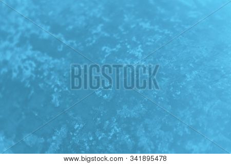 Blue Gradient Color Blurred Background. Concrete Or Beton Pattern, Patchy Background