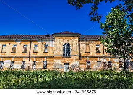 Old Desolate Building In The Area Of Daugavpils Fortress In Daugavpils City, Latvia