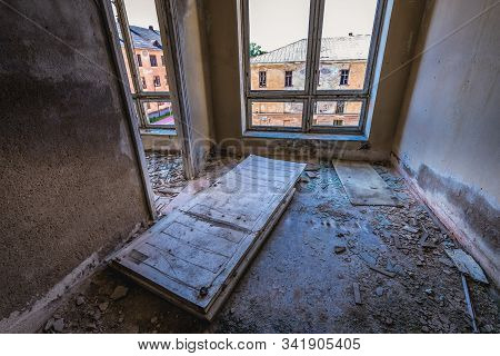 Inside The Desolate Building In The Area Of Daugavpils Fortress In Daugavpils City, Latvia