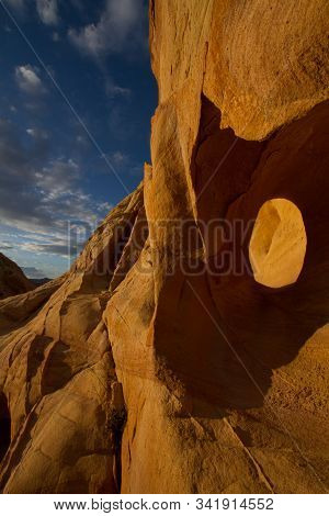 An Interesting Red Rock Formation In The Northern Nevada Desert.
