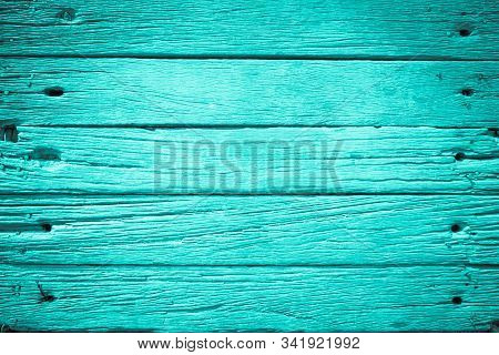 Blue Wood Background On Summer. Sweet Color Wooden Texture Wallpaper. Plywood Or Hardwood Paint Boar