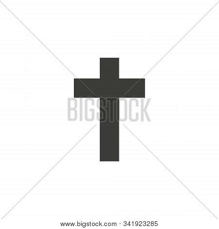 Religion Cross Vector Icon. Filled Flat Sign For Mobile Concept And Web Design. Christian Cross Simp