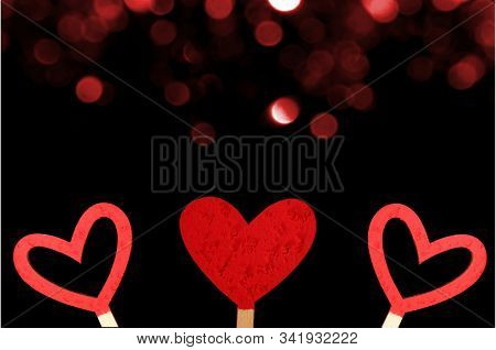 Beautiful Red Heart On A Shiny Background