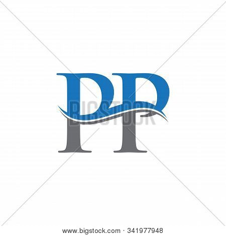 Swoosh Letter Pp Logo Design Vector Template. Water Wave Pp Logo Vector.