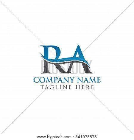 Swoosh Letter Ra Logo Design Vector Template. Water Wave Ra Logo Vector.