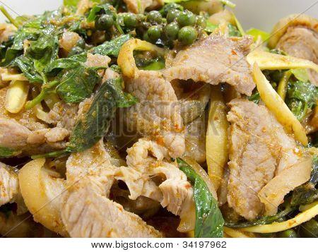Spicy Wild Boar Fry With Thai Herb