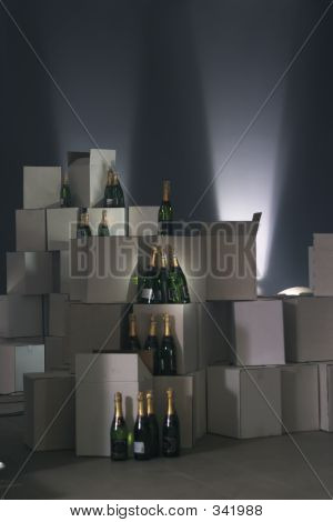 Champagne Bottles On The Carton