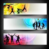Colorful website header or banner set. Sports concept. EPS 10. poster