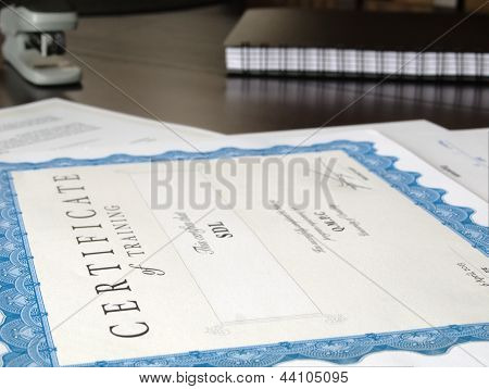 Certificate And Other Documents