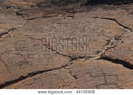 Petroglyph Carvings on Big Island Hawaii