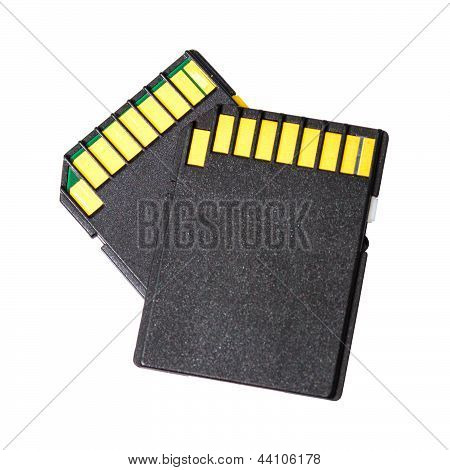 Memory Card (or Sd-cards) Isolated On White Background.