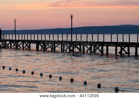 The wooden platform in Dardanelles. The view from Asia on Europe