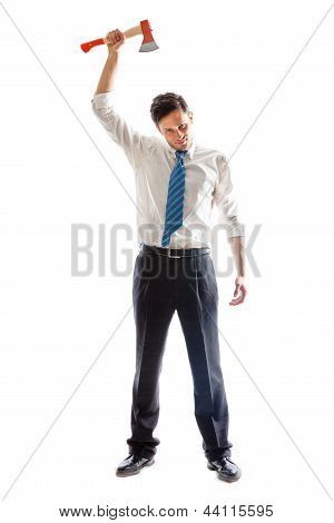 Businessman With Hatchet