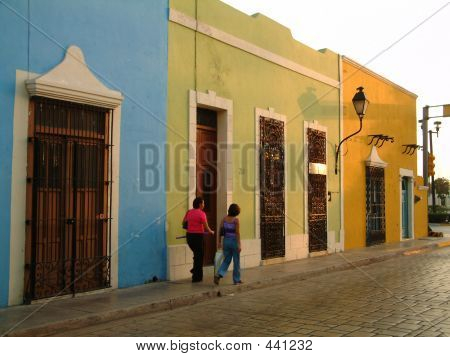 Street Scene In Campeche, Mexico