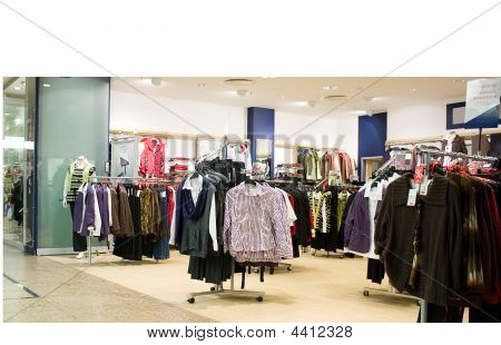 Fashion Shop In Shopping Center