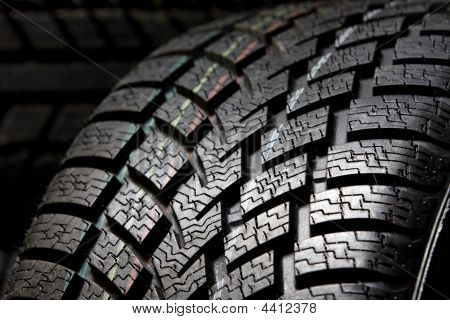 Tire Tread Close Up