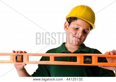 Young boy - future construction worker