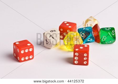Multicolored Role Play Dice