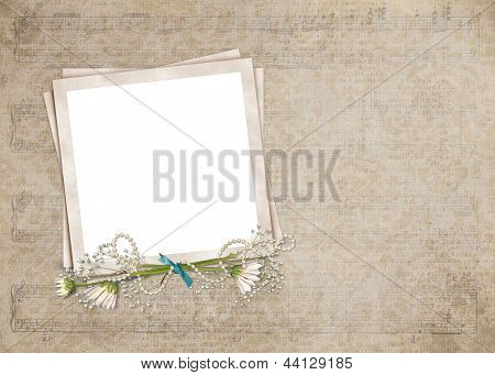 Old-fashioned snapshot frame