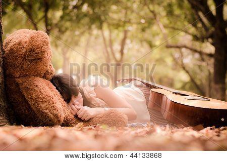 The Girl With A Bear