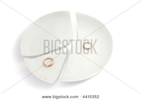 Broken Plate With Rings
