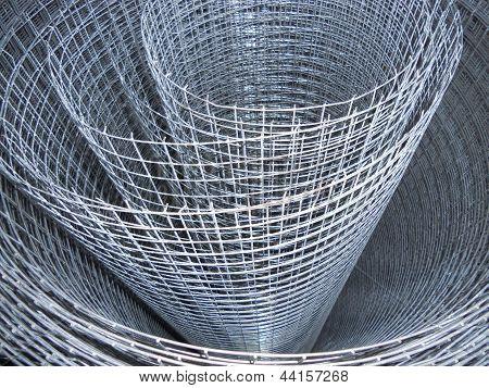 The metal mesh. Roll.