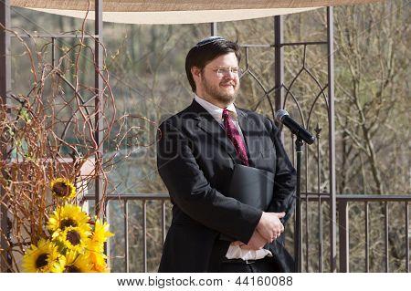Smiling Bearded Rabbi