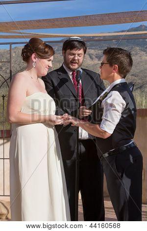 Cute Lesbian Couple Marriage