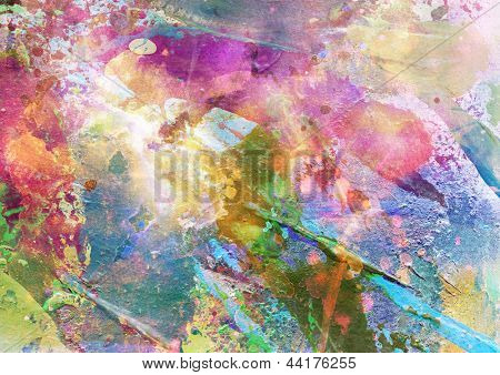 Abstract grunge texture with watercolor paint splatter