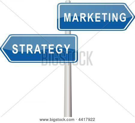 Marketing - Strategy Signpost