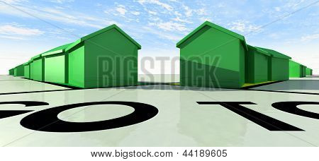 Monopoly Houses On A Board