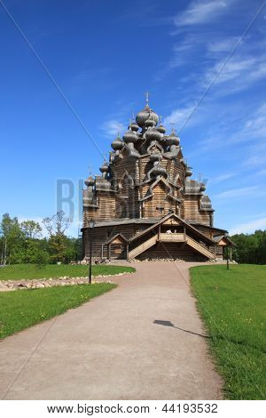 Russian orthodox wooden church