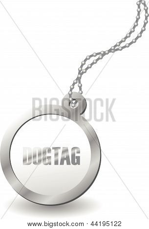 a metal dog tag