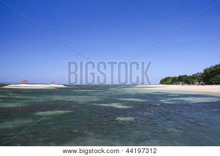 Sanur Beach Seascape Bali Indonesia