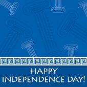 Happy Independence Day card for Greece in vector format. poster