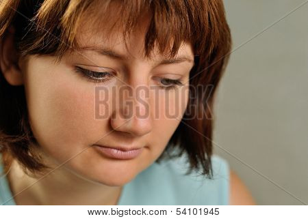 Depressed Despondent Young Woman