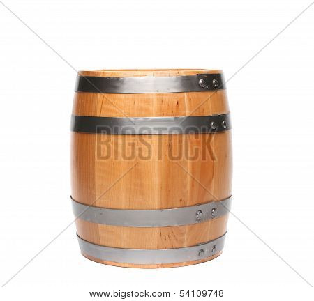 Wood barrel isolated