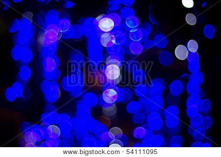 Blue  Bokeh 3