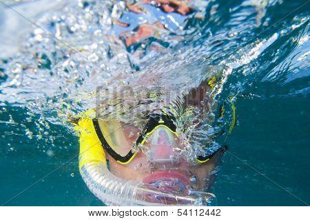 Snorkling Under Water