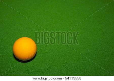 Orange Billiard Ball