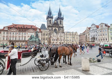 Tourist Carriage In Prague