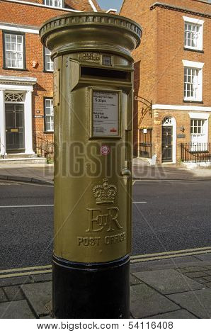 Sir Ben Ainslie gold post box