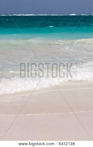 Tulum White Beach In Mexico